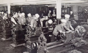 Keeping busy at the training station. Photo postal card 1941.