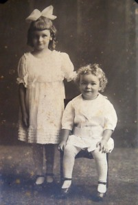 Lester with his sister Frances about 1920.