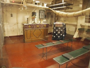 Chapel area on the ship