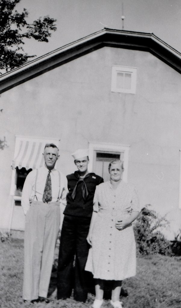 Lester with his parents.