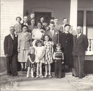 The wedding of Wallace and Helen. The two youngest children belong to Frances and Gloyd.
