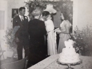 Josephine's wedding. Lester's aunt Mabel officiated.