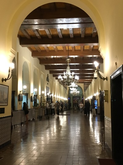 Hallway to lobbies, dining room, meeting rooms.