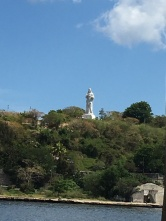is a huge statue of Christ.